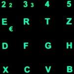 Tastaturaufkleber mit Leuchtfunktion