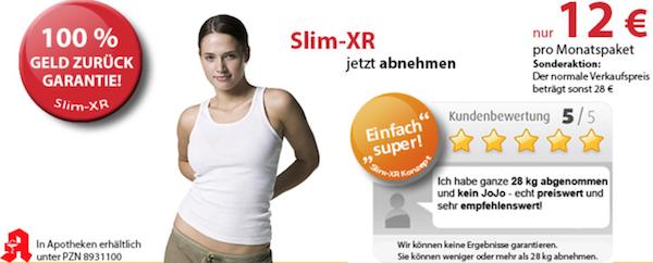 Abnehmen mit Slim XR Geld zurück Garantie